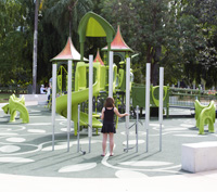 Play equipment in City Botanic Gardens playground