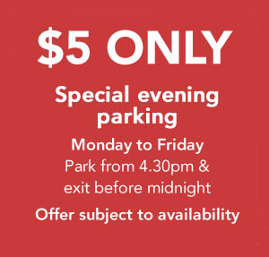 $5 only special evening parking