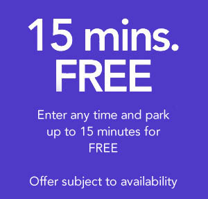 15 minute free parking offer