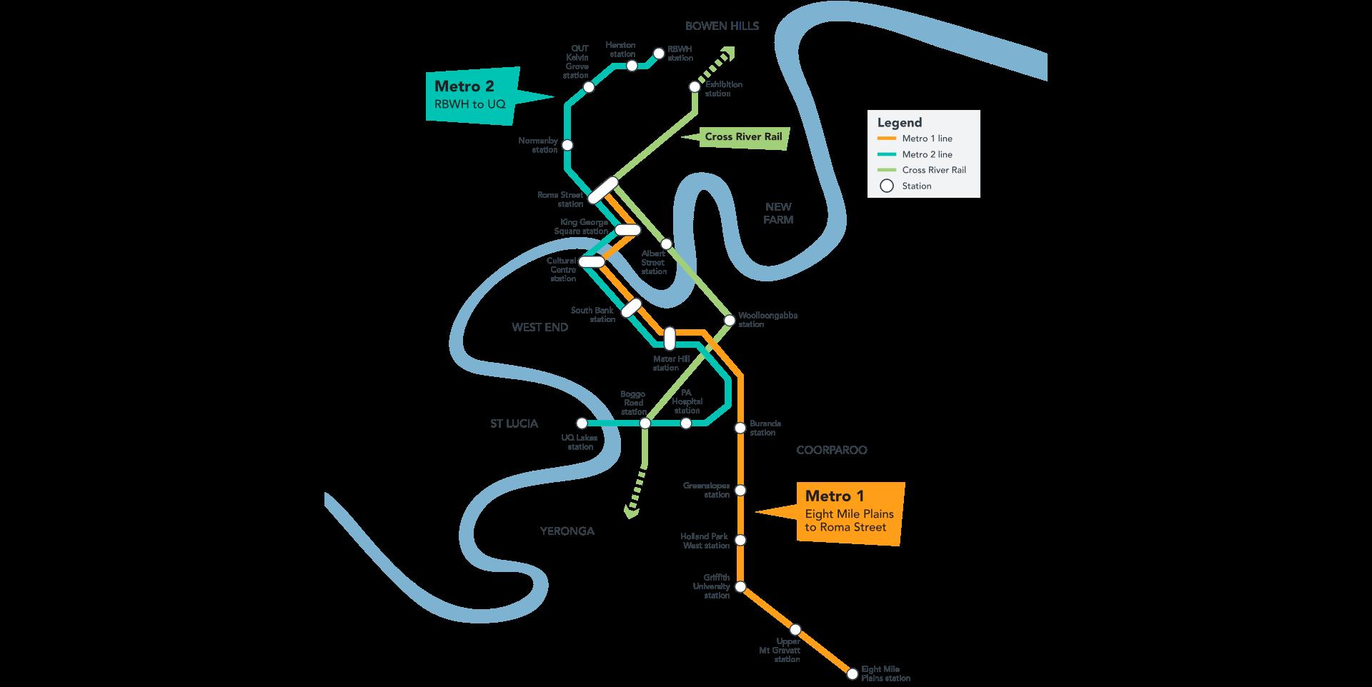 Project Management Subway Map.Brisbane Metro Brisbane City Council