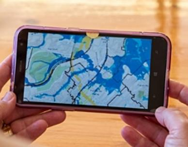 Flood maps on mobile device