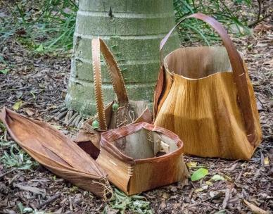 School holiday activity: Palm sheath baskets