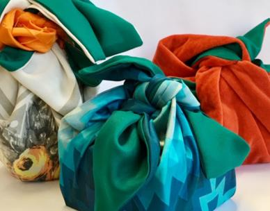 Waste Smart Christmas: Furoshiki Fabric Wrapping