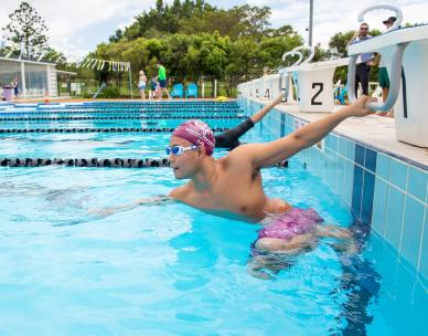 Empowering adult swimming and water safety class