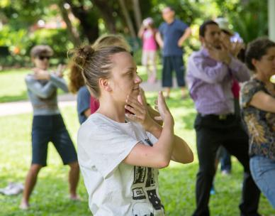 Tai Chi Qigong in the park