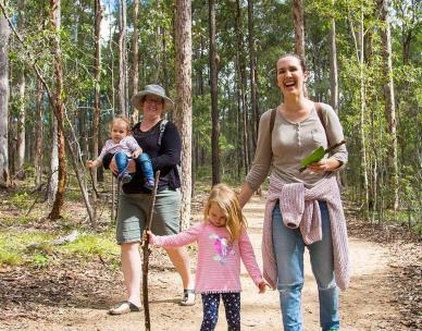 Family forest discovery walk