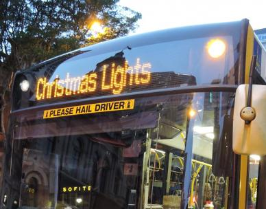 Christmas Lights bus tours - eastern suburbs