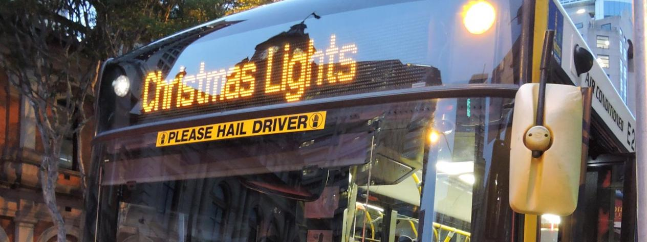Christmas Lights bus tours - northern suburbs