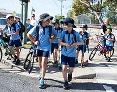 Children walking to school Brisbane